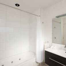 Twin Room Bathroom with Spa Bath at The Dawson Motel. Book now call 06 758 1177