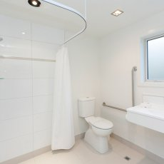 Studio Disabled Bathroom. The Dawson Motel New Plymouth. Call 06 758 1177
